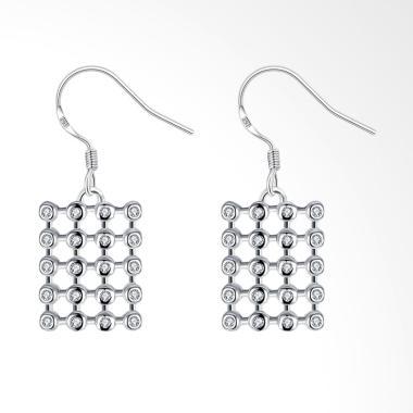 SOXY LKNSPCE789 New Exquisite Fashion Square Diamond Earrings