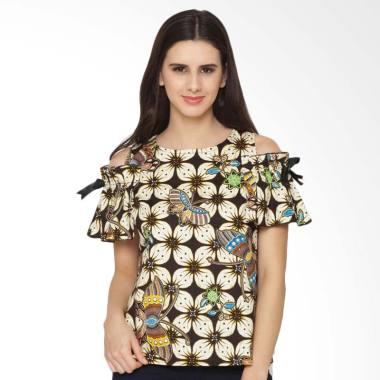 fbw_fbw-sabrina-ribbon-sleeves-batik-blouse-atasan-wanita---cokelat_full05 Koleksi List Harga Atasan Wanita Santai Terbaik bulan ini