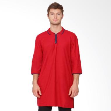 Zayidan Zipper Kaos Gamis - Merah