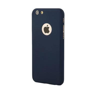 OEM 360 Hardcase Casing for iPhone 6 or iPhone 6s - Navy + Free Tempered Glass