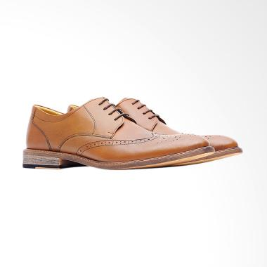 Life8 Men Pointy-toe Formal Leather Shoes - Brown [09769]