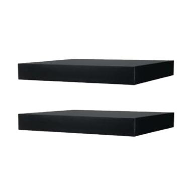 DEcTionS Set Floating Shelves - Hitam [2 pcs/ 30 x 20 cm]