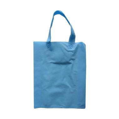 HBS Spunbond Polos Tas Kain Goodie Bag - Biru Muda [30 x 40 x 9 cm]
