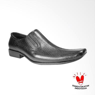 LISMEN Celebrity Sepatu Kulit Pria - Hitam [LM-7704]