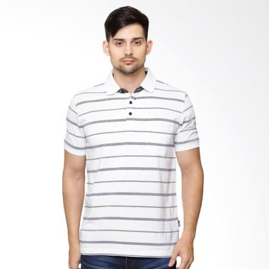Osella Men Arnett Salur Komb Print Polo Shirt Pria - Black White