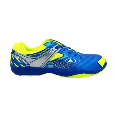 Dans Mainaky Sepatu Badminton - Blue Neon Silver