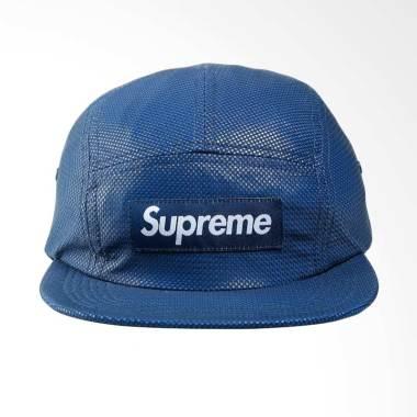 Supreme New York Bonded Mesh Camp Cap Topi Pria - Blue