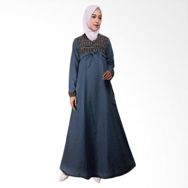 Adore Ladies 491677 Lengan Panjang Dress Muslim Wanita - Dark Blue