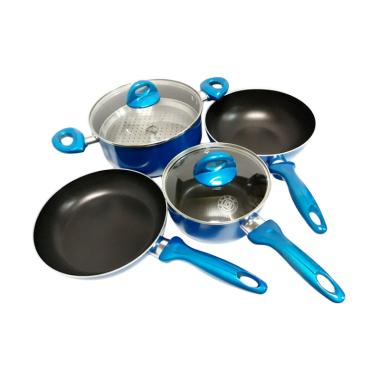 Supra Rosemary Cookware Set Panci - Biru [7 pcs]