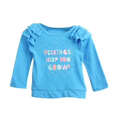 Cargo Cj 20 Girls Tee Long Sleeve Atasan Anak - Blue