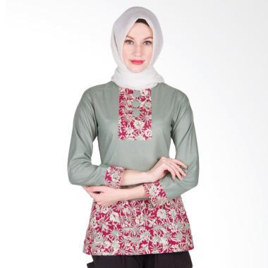 Arya Putri Batik ATM-013-Gy Kamakshi Baju Batik Muslim