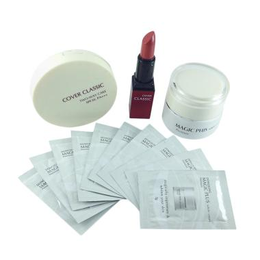 Paket Cantik Sempurna Magic Plus Wh ... ke + Lipstick - Red Brown