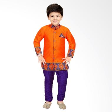 VERINA BABY Indian Style Plus Pants Setelan Baju Koko Anak - Orange