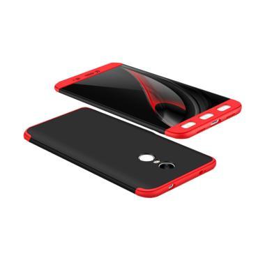 Xiaomi Redmi Note 4(Mediatek) Full  ... n Hard Case - Hitam Merah