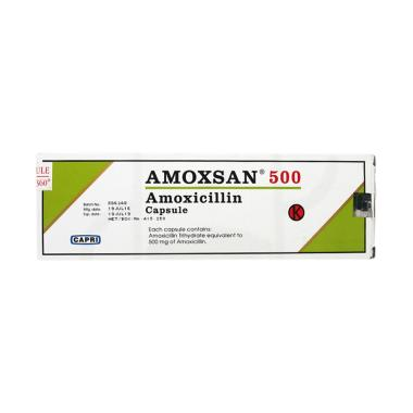 Amoxsan Kapsul Obat [500 mg/10 Tablet/1 Strip]
