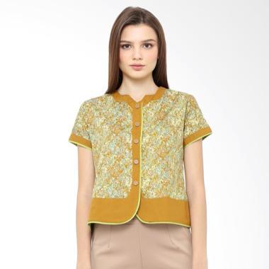 Arya Putri Batik ATS-003-BrG/S Atasan Baju Batik Wanita - Brown