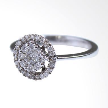 Lavish R13428 Cincin Berlian Emas Putih [18K]