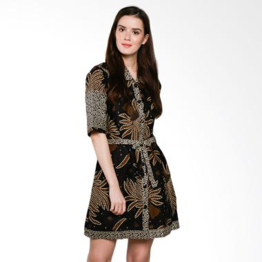Koesoema Clothing Ghea Batik Tunic Dress Wanita - Hitam