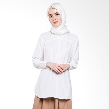 Koesoema Clothing Ameera Kemeja Tunik Lengan Panjang Wanita - White