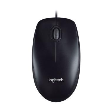 Logitech M100r Arca Clamshell Mouse - Black