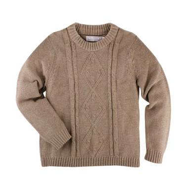 Hello Mici Knitwear Mini Cable Baju Sweater Anak - Brown
