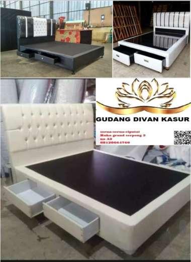 Difan/Dipan/Divan Sandaran Full+Laci Depan/samping 180 x 200 Cream