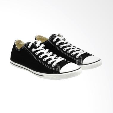 Converse Chuck Taylor All Star Lean Sepatu Pria - Black White