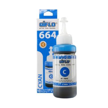 Aiflo 664 Tinta Printer for Epson L ... L200/L350 - Cyan [100 mL]