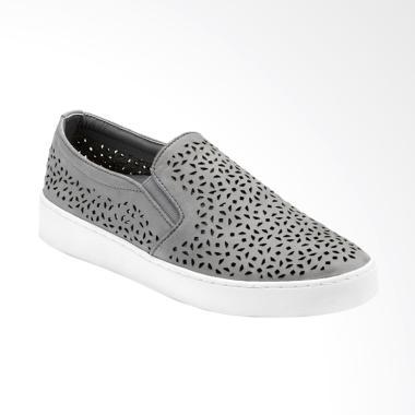 Vionic Midi Perf Slip on Sepatu Wanita - Grey