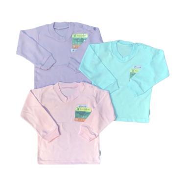 Aruchi Polos Oblong Panjang Set Baju Bayi Perempuan [3 pcs]