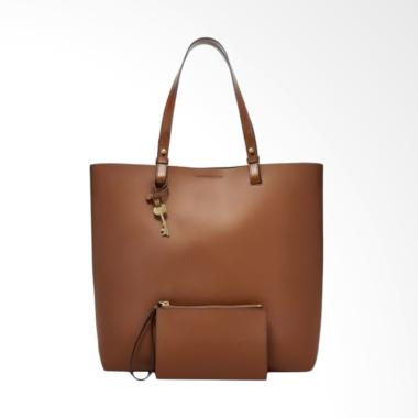 Fossil Rachel Leather NS Tote Bag Wanita - Brown