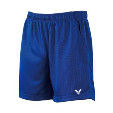 Victor Knitted Short Celana Badminton Pria - Blue [R 3096 F]