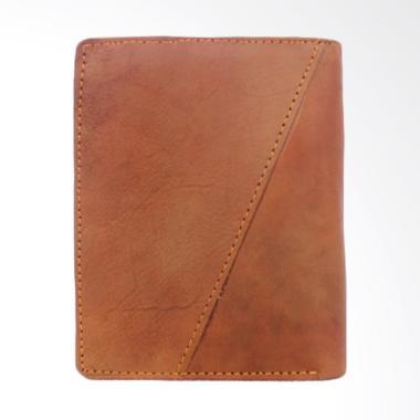 Kenes Leather 3D Kulit Dompet Pria - Brown