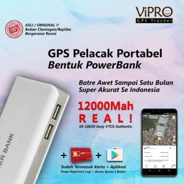 harga GPS Portabel bentuk PowerBank + Sadap Suara | Akurat | Pelacak Mobil - Tas - Koper | Baterai Sony 12000Mah Real Tanpa Sadap Blibli.com