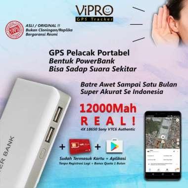 harga GPS Portabel bentuk PowerBank + Sadap Suara | Akurat | Pelacak Mobil - Tas - Koper | Baterai Sony 12000Mah Real Dengan Sadap Blibli.com