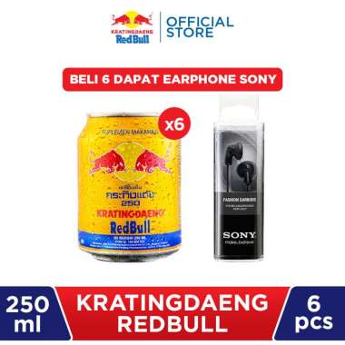 Kratingdaeng Red Bull - 6 Pcs (Get Earphone Sony)