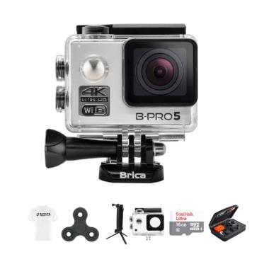 harga Brica B-PRO 5 Alpha Edition 2 AE2 4K Combo 3 Way Deluxe Spin White T-shirt Action Camera - Silver Blibli.com
