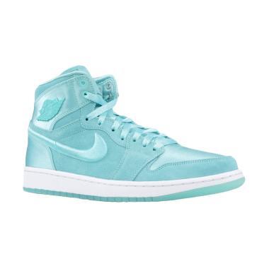 6fd253ed236 NIKE Women Air Jordan 1 Retro High Hydrogen Sepatu Sneakers Wanita - Blue   SOH AO1847-445
