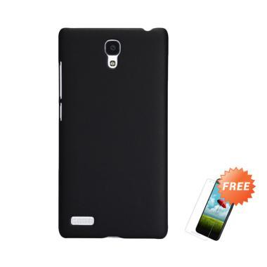 OEM Slim Hardcase Casing for Xiaomi Redmi Note 1 - Black Matte + Free Tempered Glass
