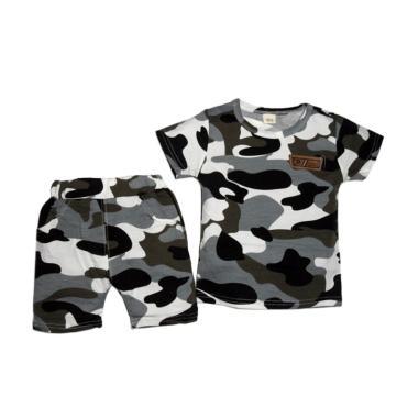 VERINA BABY Motif Army Style and Pants Setelan Baju Anak
