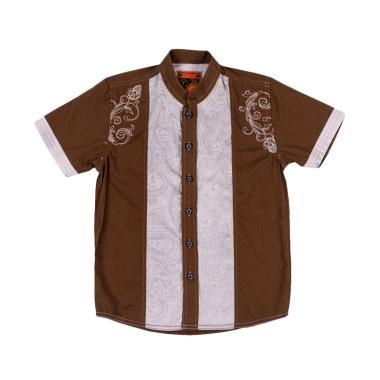 Woffi MS3-00-400 C KMJ Bordir Printing Baju Koko Anak - Brown