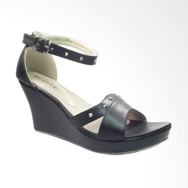 harga Beauty Shoes EL-225 Sepatu Wedges Wanita - Hitam Blibli.com