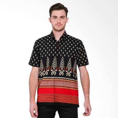 Batik Waskito Short Sleeve Cotton B ... k Pria - Black [HB 10718]