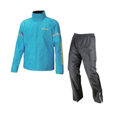 KOMINE RK-543 STD Rainwear Setelan Jas Hujan Unisex - Cyan Blue