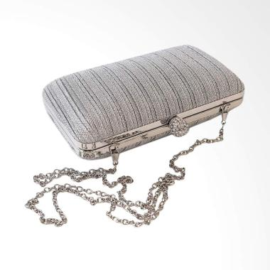 Red Wine HT1906 Clutches - Silver