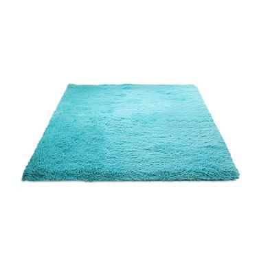 Rasfur Karpet Bulu - Biru Mint [200 x 150 x 3 cm]