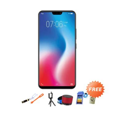 VIVO V9 Smartphone - Black [64 GB/ 4 GB] + Free 8 Accesories