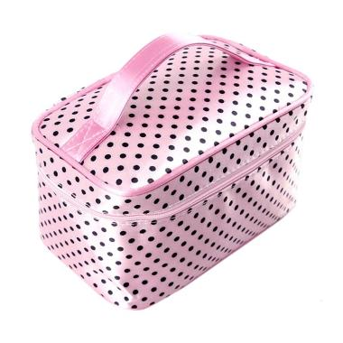 Paroparoshop Make Up Mini Polka Pouch - Pink