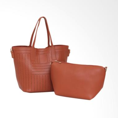 Lorica by Elizabeth Gardenia Hand Bag - Coklat Bata