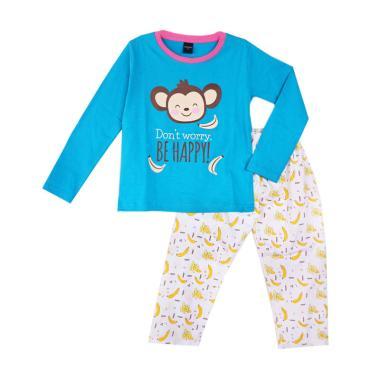 Amaris Fashion Banana Setelan Piyama Anak Perempuan - Biru